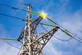 High Voltage Electric Tower Stock Photos - 40582153