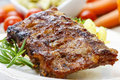 Ribs With Honey Stock Image - 40589861