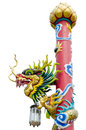 Chinese Style Dragon Statue In Temple Royalty Free Stock Images - 40590429