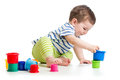 Baby Boy Playing With Colour Cup Toys Royalty Free Stock Images - 40591009