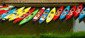 Colorful Kayaks Docked - As Seen From Above Royalty Free Stock Photo - 40593185