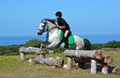 Cross Country Girl And Pony Jumping Stock Photo - 40595030
