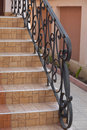 Detail Of Wrought Iron Railing Royalty Free Stock Photo - 40595155