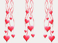 Red Hearts Hang On Tapes Royalty Free Stock Image - 4060916