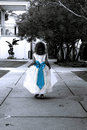 Blue Bow And Small Girl Stock Image - 4066141