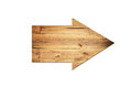 Directional Arrow Made Of Old Wood Surface. Stock Images - 40608674