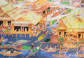 Thai Mural Painting Royalty Free Stock Image - 40611936