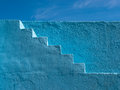 Blue Painted Steps Pattern Stock Photography - 40614682
