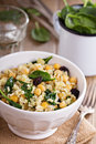 Salad With Rice, Chickpeas, Spinach, Raisins Stock Photography - 40616542