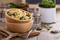 Salad With Rice, Chickpeas, Spinach, Raisins Royalty Free Stock Photography - 40616547