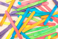 Colourful Wooden Ice Cream Stick Background Royalty Free Stock Photos - 40621118