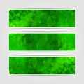 Abstract Green Triangular Banners Set Stock Images - 40627774