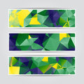 Abstract Geometric Headers Collection With Triangular Polygons Royalty Free Stock Images - 40627809