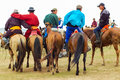 Group Of Horseback Spectators, Nadaam Horse Race Royalty Free Stock Images - 40628769