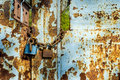 Rusty Gate With Locks Royalty Free Stock Image - 40628856