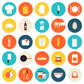 Kitchen Cooking Tools And Utensils Flat Icons Stock Images - 40642354