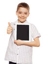 Boy With A Tablet PC Stock Photo - 40656970
