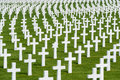 White Marble Crosses At An American Military Cimetery Stock Photo - 40662100