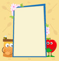 Honey And Apple Vertical Banner Royalty Free Stock Photography - 40672207
