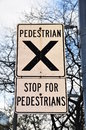 Pedestrian Crossing Sign Royalty Free Stock Photo - 40674955