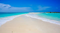 Beach In Caribbean With A Sand Pathway Royalty Free Stock Image - 40681866