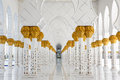 View Columns Sheikh Zayed Mosque Royalty Free Stock Photos - 40697358