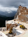 The Famous White Marble Quarries In The Apennine Royalty Free Stock Photography - 40711167