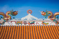 Beautiful Dragon Roof Of Chinese Temple Royalty Free Stock Photos - 40713628