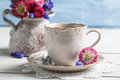 Spring Flowers And Coffee Royalty Free Stock Images - 40714589