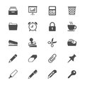 Office Supplies Flat Icons Royalty Free Stock Photography - 40716027