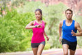 Sport - Running Fitness Mixed Couple Training Stock Images - 40718064