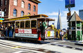 Cable Car And Transamerica Building In San Francisco Stock Photo - 40732140