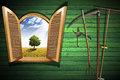Agriculture Concept With Open Window Stock Image - 40732291