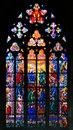 Stained-glass Window In St Vit Cathedral, Prague Stock Photos - 40732953