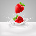 Strawberries With Milk Royalty Free Stock Photography - 40734107