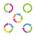 Colorful Cycle Arrows. Royalty Free Stock Image - 40735666
