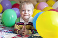 Smiling Baby Boy With Balloons. Stock Photo - 40737230