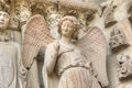 Smiling Angel. Notre-Dame De Reims Cathedral. Reims, France Royalty Free Stock Image - 40752276