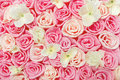 Roses Flower Pattern Background. Floral Texture. Stock Photo - 40753690