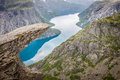Beautiful Norwegian Landscape With Mountains On The The Way To T Royalty Free Stock Photo - 40759995