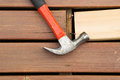 Old Hammer Next To Rusty Nails Royalty Free Stock Photo - 40760145