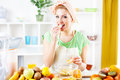 Young Woman Eat Oranges Royalty Free Stock Images - 40771589