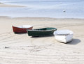Three Isolated Dinghies Or Skiffs On Maine Coast Royalty Free Stock Photos - 40776288