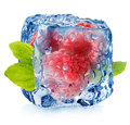 Frozen Raspberries Stock Image - 40781931