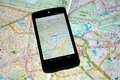 Modern Mobile Maps Vs Traditional Paper Maps For Navigation Royalty Free Stock Photo - 40787975