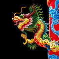 Chinese Style Dragon Statue Stock Photo - 40791450