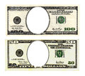 Hundred And Fifty Dollars Bills On White Background. Royalty Free Stock Images - 40792879