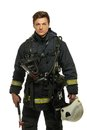 Young Firefighter With Helmet Royalty Free Stock Photos - 40795438