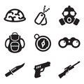 Commandos Icons Royalty Free Stock Images - 40799479