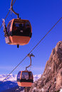 Skiers In Mountain Cable Car Royalty Free Stock Photo - 4088315